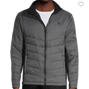 Spyder men's gray and black quilted jacket